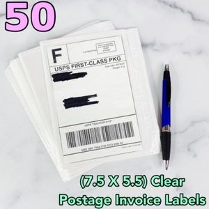 50 (7.5 X 5.5) Clear Postage Invoice PRICE IS FIRM